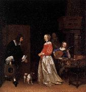 The Suitors Visit Gerard ter Borch the Younger