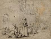 Market in Haarlem Gerard ter Borch the Younger
