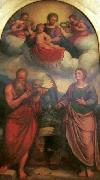 Madonna and Child in glory with Girolamo Troppa