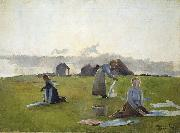 Drying clothes Harriet Backer