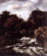 Norwegian Landscape with Waterfall Jacob Isaacksz. van Ruisdael