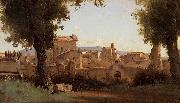 View from the Farnese Gardens camille corot