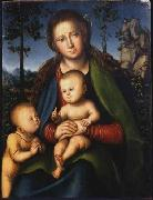 Madonna with Child with Young John the Baptist Lucas Cranach the Elder