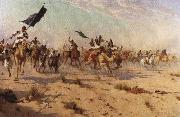 The Flight of the Khalifa after his defeat at the battle of Omdurman, 2nd September 1898 Robert Talbot Kelly