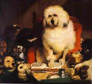 Laying Down The Law Sir edwin henry landseer,R.A.