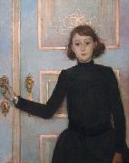 Portrait of Marguerite van Mons who later married Thomas Braun Theo Van Rysselberghe