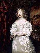 Portrait of Suzanna Doublet-Huygens (1637-1725) fifth and last child of Constantijn Huygens and Suzanna van Baerle, and their only daughter, painted b caspar netscher