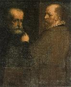 Self-Portrait of the Artist While Painting His Father CAMBIASO, Luca