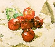 Still Life with Apples and a Green Glass Demuth, Charles
