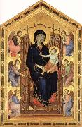 Madonna and Child Enthroned with Six Angels Duccio