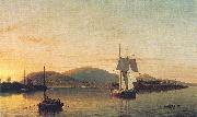 Camden Mountains from the South Entrance to the Harbor Fitz Hugh Lane