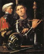 Portrait of a Man in Armor with His Page Giorgione
