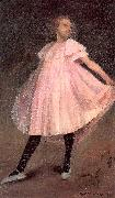 Dancer in a Pink Dress Glackens, William James