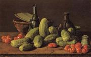 Still Life with Cucumbers and Tomatoes Luis Menendez