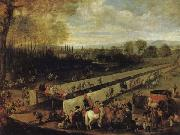The Hunting Party at Aranjuez MAZO, Juan Bautista Martinez del