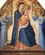 Madonna and Child Enthroned with Eight Angels Pietro Lorenzetti