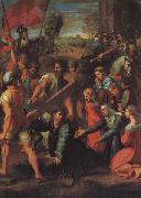 Christ Falls on the Road to Calvary Raphael