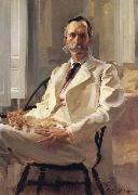 Man with the Cat Portrait of Henry Sturgis Drinker Cecilia Beaux
