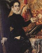 Details of The Burial of Count Orgaz El Greco