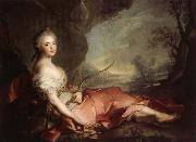 Marie Adelaide of France Represented as Diana Jean Marc Nattier
