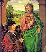 Pierre II, Duke of Bourbon, Presented by St. Peter Master of Moulins