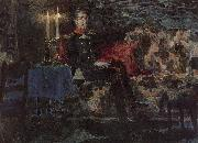 Portrait of a Military Man Mikhail Vrubel