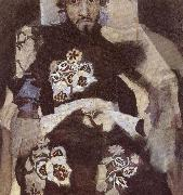 Portrait of a Man in period costume Mikhail Vrubel