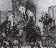 Mozart and Salieri Listening to a Blind Violinist Mikhail Vrubel