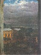 The Anhalter Railway Station by Moonlight Adolph von Menzel