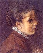 Head of a Girl Adolph von Menzel