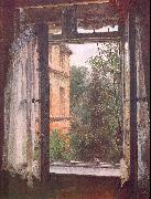 View from a Window in the Marienstrasse Adolph von Menzel