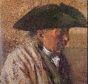 Peasant with a Three-Cornered Hat Adolph von Menzel