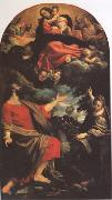 The VIrgin Appearing to ST Luke and ST Catherine (mk05) Annibale Carracci