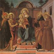 The Virgin and Child Surrounded (mk05) Francesco di Stefano called Pesellino