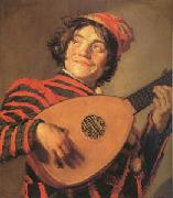 Jester with a Lute (mk05) Frans Hals