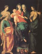 The Virgin and Child with Four Saints and the Good Thief with (mk05) Jacopo Pontormo
