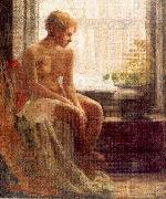 Nude Seated by a Window Mulhaupt, Frederick John