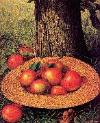 Apples, Hat, and Tree Prentice, Levi Wells