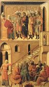Peter's First Denial of Christ and Christ Before the High Priest Annas (mk08) Duccio
