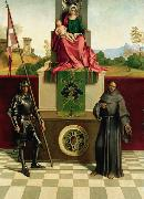 Virgin and Child with SS Francis and Liberalis (mk08) Giorgione