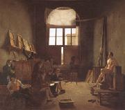 Interior of the Studio of David (mk05) Leon-Matthieu Cochereau