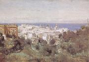 View of Genoa (mk09) camille corot