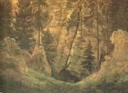 Cave and Funerary Monument (mk10) Caspar David Friedrich