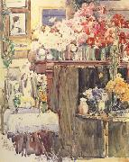 Celis Thaxter's Sitting Room (nn02) Childe Hassam
