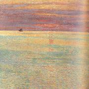 Sunset at Sea (nn02) Childe Hassam