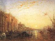 Venice with Doges'Palace at Sunrise (mk22) Felix Ziem