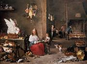 Kitchen Scene (mk14) TENIERS, David the Younger