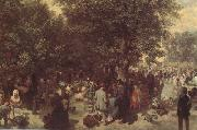 Afternoon in the Tuileries Garden (nn02) Adolph von Menzel