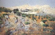 View of Toledo from the Olive Groves (nn02) Aurelio de Beruete