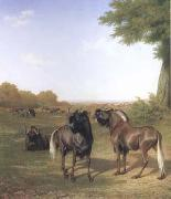 White-Tailed Gnus (mk25) Jacques-Laurent Agasse
